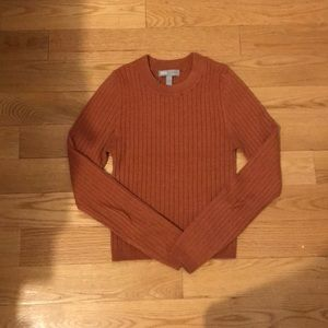 Rust crew neck sweater asos